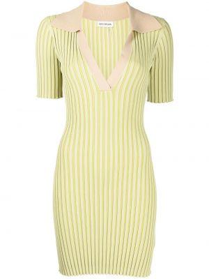 Платье в рубчик - зеленое Nicholas