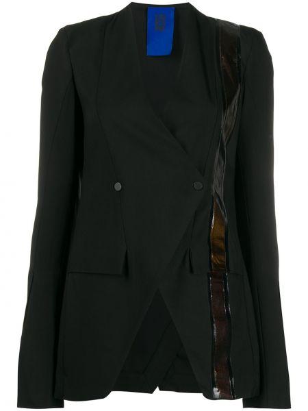 Черный приталенный прямой пиджак с воротником Ilaria Nistri