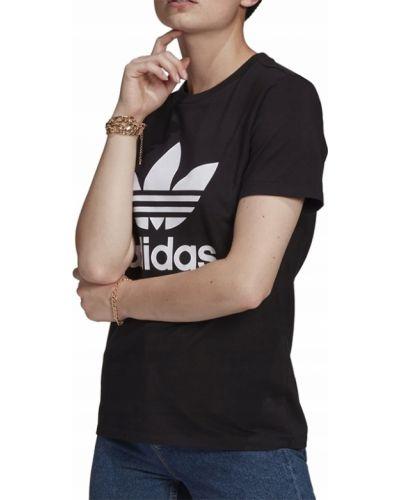 Bawełna bawełna czarny t-shirt Adidas