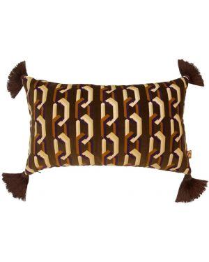 Brązowy łańcuszek bawełniany z printem Poodle & Blonde