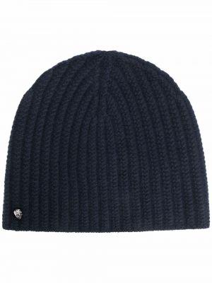 Niebieska z kaszmiru czapka Zadig&voltaire