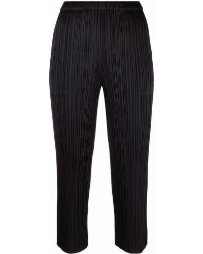 Укороченные брюки - черные Pleats Please Issey Miyake