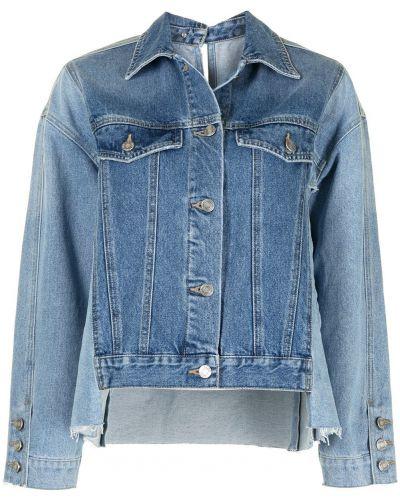 Хлопковая синяя джинсовая куртка со вставками Sjyp