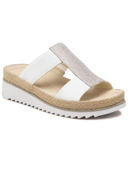 Sandały espadryle - białe Gabor