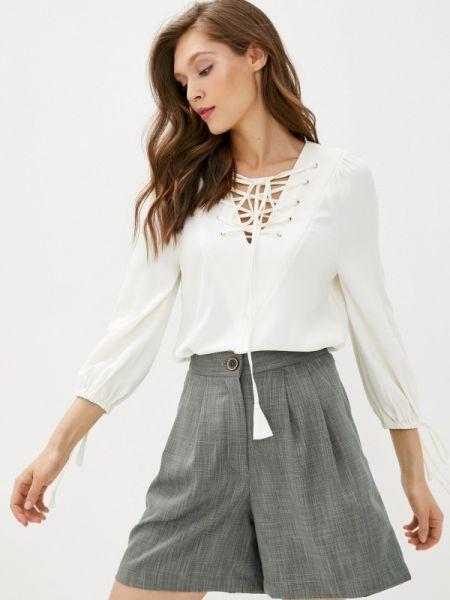 Белая блузка с длинным рукавом с длинными рукавами Laroom