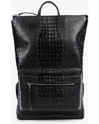 Городской черный рюкзак из натуральной кожи Asya Malbershtein