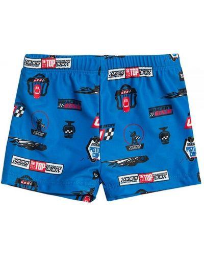 Костюмные синие плавки-боксеры с поясом Cool Club