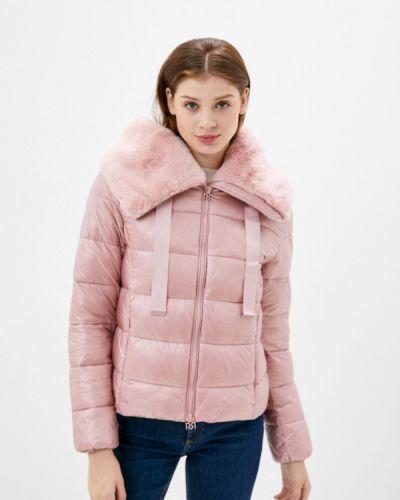 Розовая теплая куртка Rinascimento