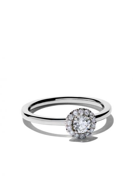 С ромбами кольцо с бриллиантом De Beers