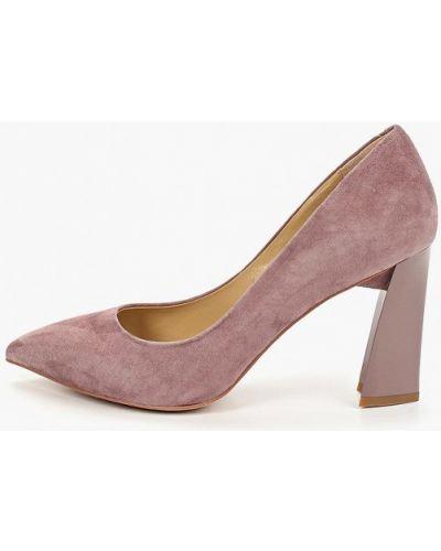 Туфли на каблуке замшевые розовый O`shade