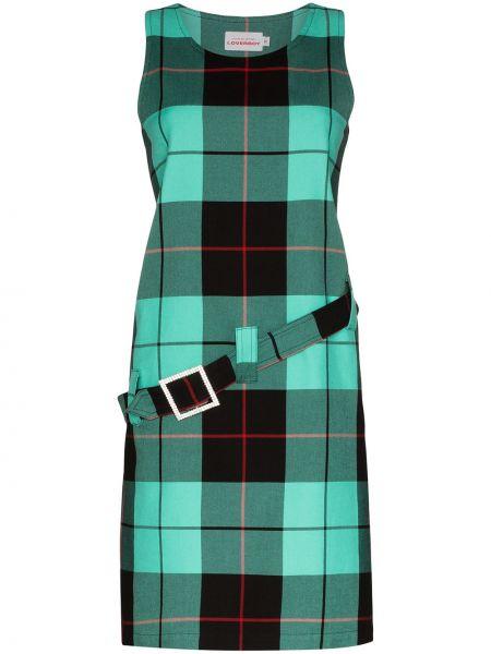 Платье с поясом в клетку трапеция Charles Jeffrey Loverboy