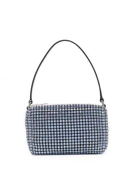 Синяя маленькая сумка на молнии Alexander Wang