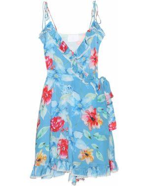 Платье мини с цветочным принтом коктейльное Athena Procopiou