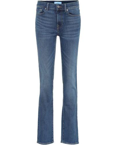 Джинсовые прямые джинсы - синие 7 For All Mankind