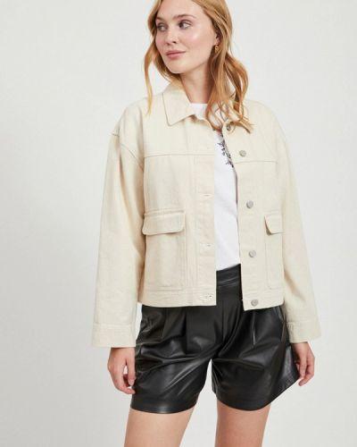 Бежевая джинсовая куртка Vila