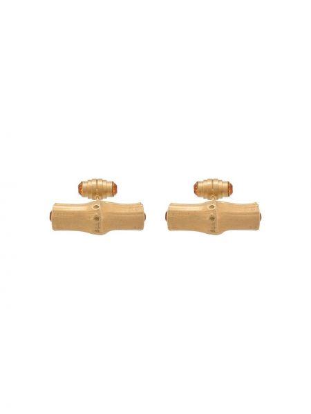 Золотистые запонки позолоченные золотые Gianfranco Ferre Pre-owned