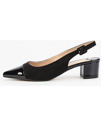 Туфли на каблуке замшевые с открытой пяткой Dorothy Perkins