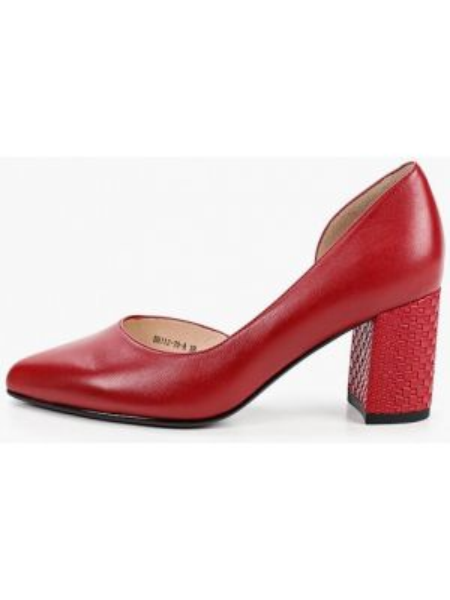 Кожаные туфли красные Covani