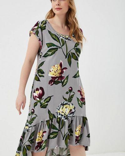 Платье серое Louitex