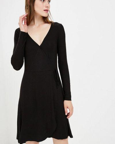Черное платье с запахом Brave Soul