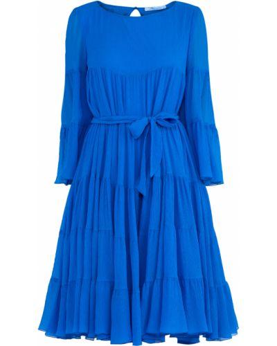 Платье с поясом с оборками с вырезом Blumarine