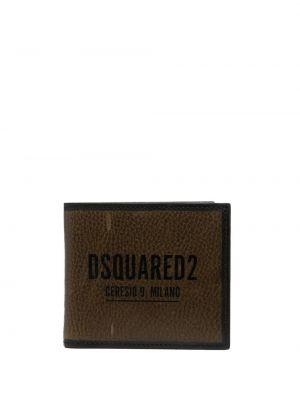 Zielony portfel z printem Dsquared2