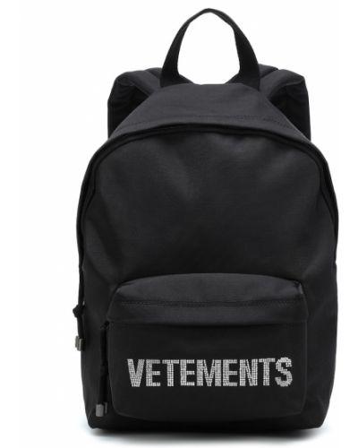 Czarny plecak z wiskozy Vetements