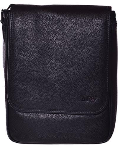 Кожаная сумка с отделениями Armani Jeans