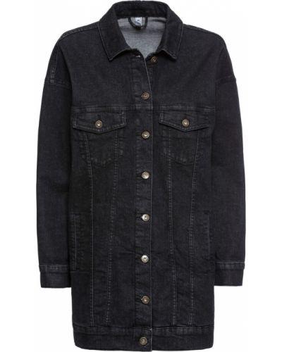 Джинсовая куртка оверсайз черная Bonprix