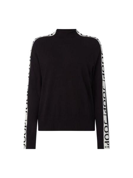 Z paskiem czarny sweter z wiskozy ze stójką Joop! Jeans