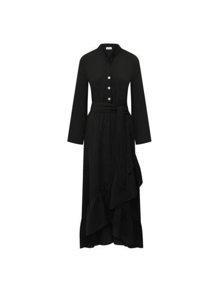 Льняное платье - черное La Fabbrica Del Lino
