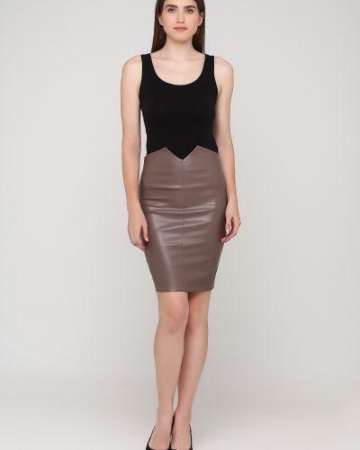 Кожаная юбка - серая Niktan
