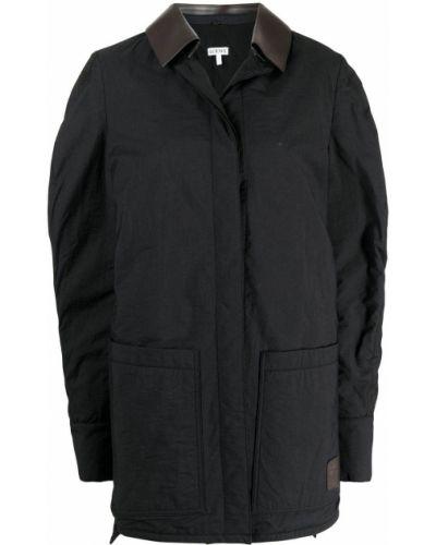Рубашка с длинным рукавом - черная Loewe