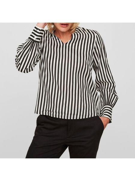 Блузка с длинным рукавом в полоску с V-образным вырезом Vero Moda