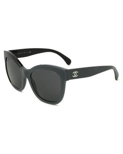 Серые солнцезащитные очки Chanel