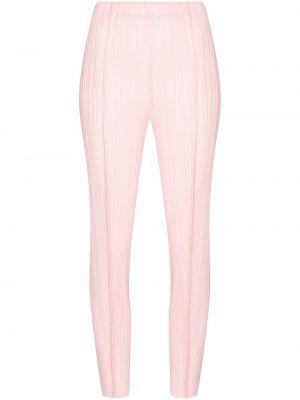 Зауженные брюки - розовые Pleats Please Issey Miyake