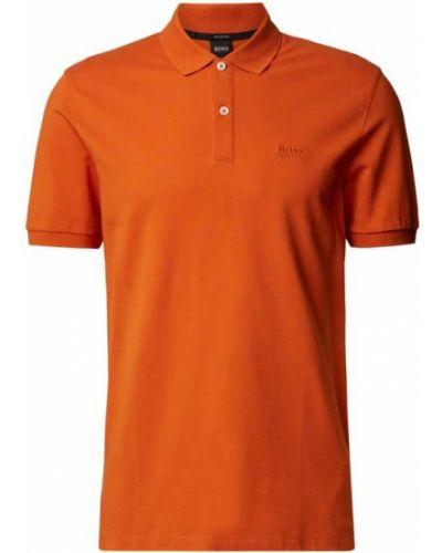 Pomarańczowy t-shirt bawełniany Boss