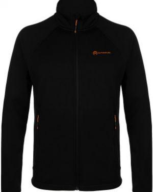 Приталенный спортивный коричневый джемпер на молнии с капюшоном Outventure