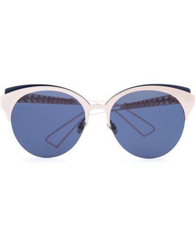 Солнцезащитные очки металлические круглые Dior (sunglasses) Women