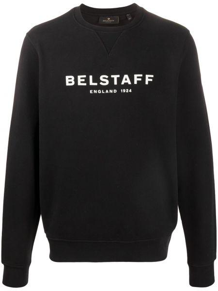 Sweter bawełniany - czarny Belstaff