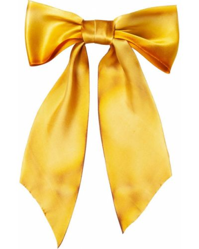 Шелковый желтый бантик оверсайз Jennifer Behr