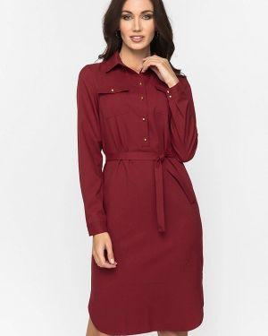 Платье бордовый платье-рубашка Gloss