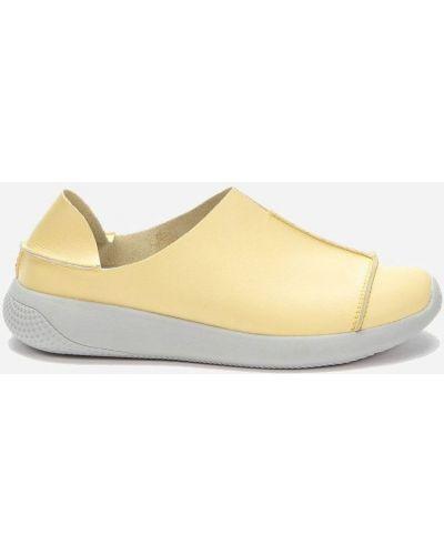 Желтые кожаные мокасины Grunberg