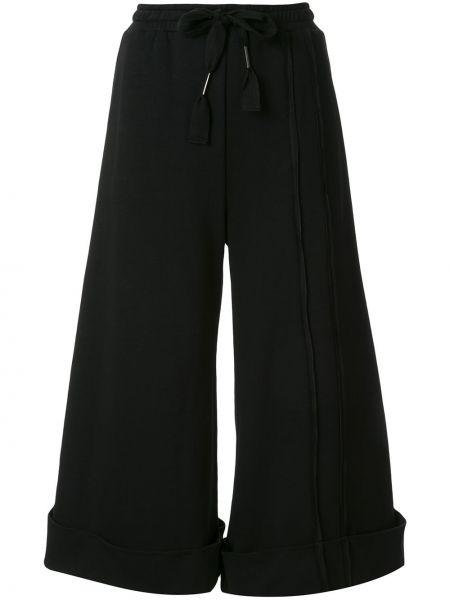 Черные укороченные брюки с поясом свободного кроя из вискозы Taylor