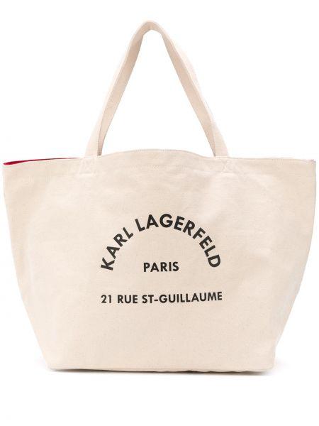 Torba na zakupy na ramię czarna Karl Lagerfeld