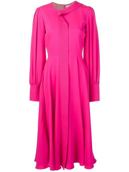 Платье миди розовое на молнии Roksanda