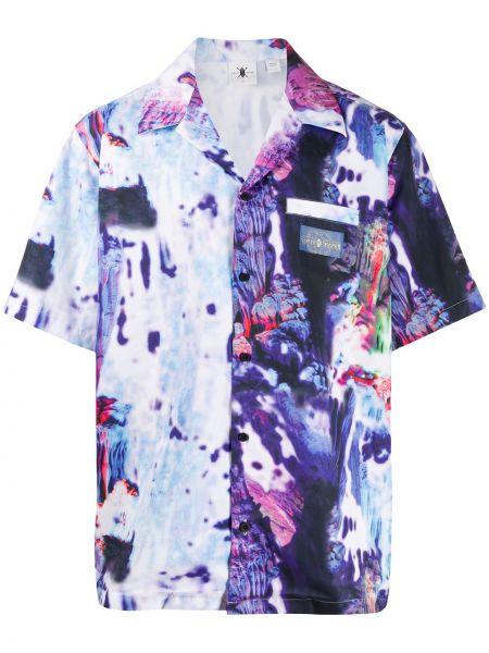 Koszula krótkie z krótkim rękawem fioletowy karmazynowy Daily Paper
