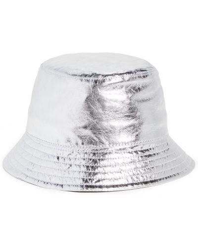 Серебряная кожаная шапка с подкладкой Isabel Marant