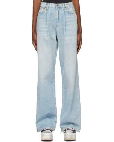 Черные широкие джинсы с карманами свободного кроя R13