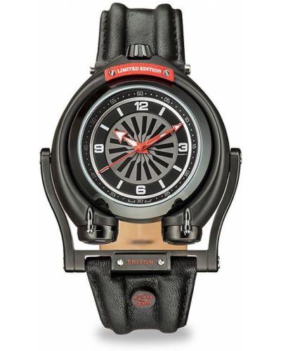 Zegarek na skórzanym pasku srebrny Gv2